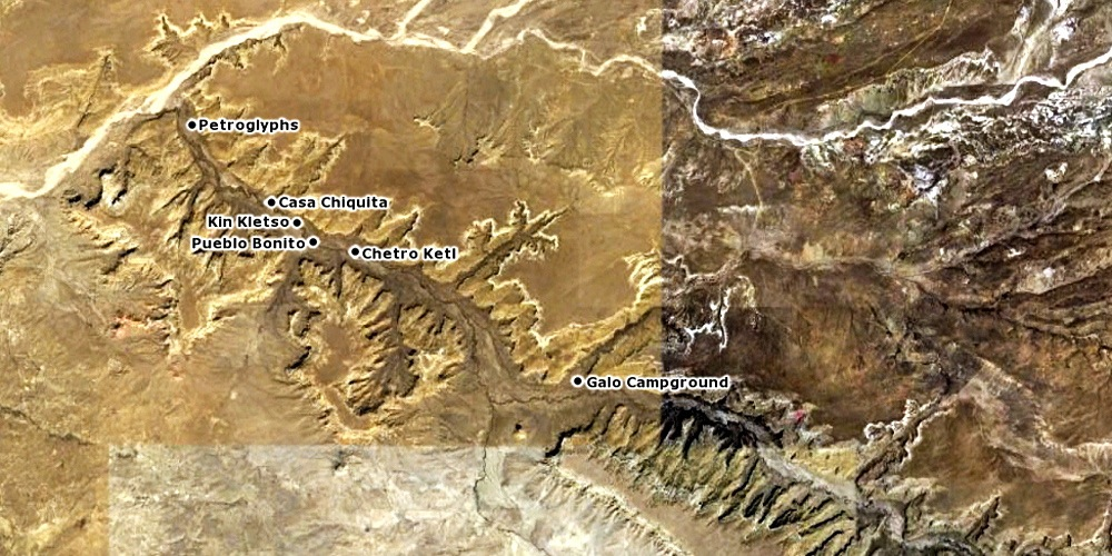 Chaco Canyon [Image created in Google Earth at an altitude of approximately 12 miles]