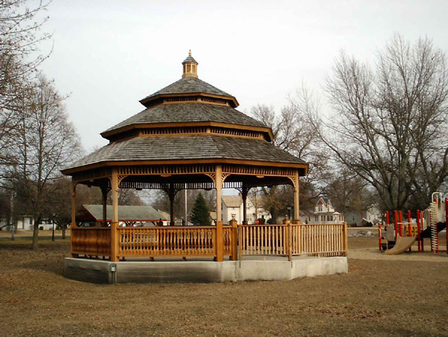 """We went to a used furniture store in Sheffield, Iowa, a very small town. I stopped and took this picture of the gazebo in their park."""