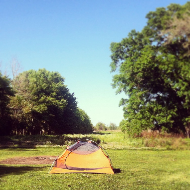 Campsite. Thibodeaux.