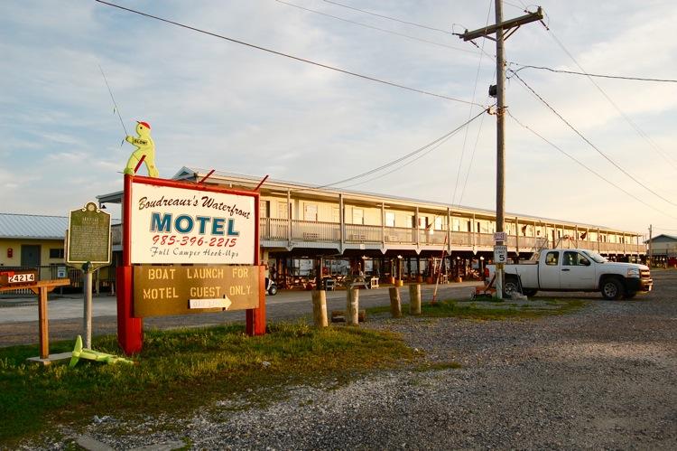 Boudreaux's Motel. Leeville, LA. I camped here.