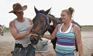 Terri and Charles of S-n-G Horseback Riding