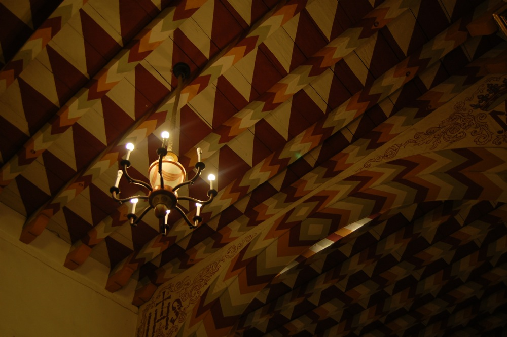 Mission Dolores ceiling