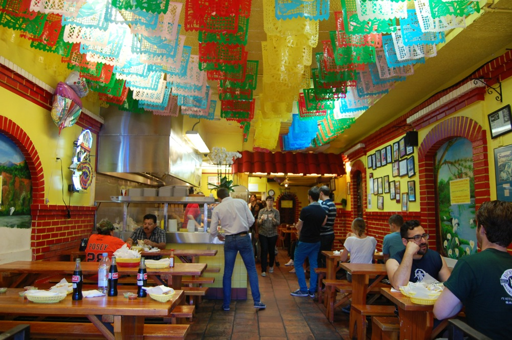 "Taqueria Cancun for our first ""mission burrito"""